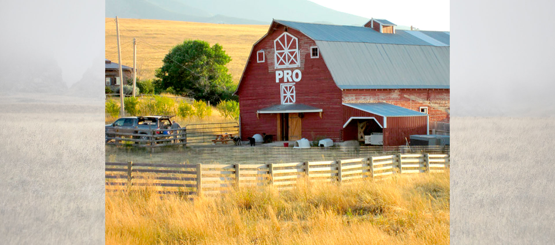 Barn at the Sharptail Hunting Lodge in Montana