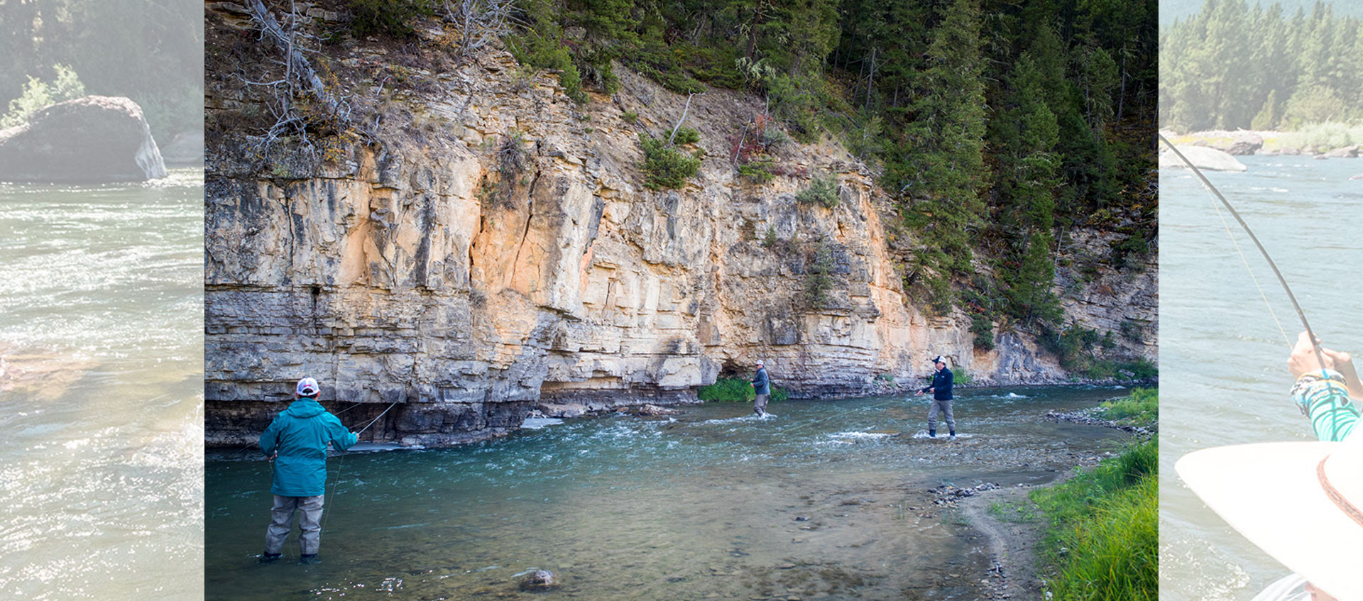 Pro Outfitters Guide & Clients Wade Fishing on the Smith River