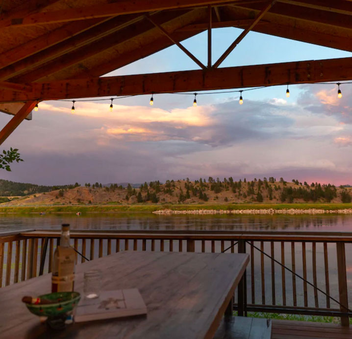 Riverside View from The Yurt at Craig | Fly Fishing Vacation Rental in Craig, MT